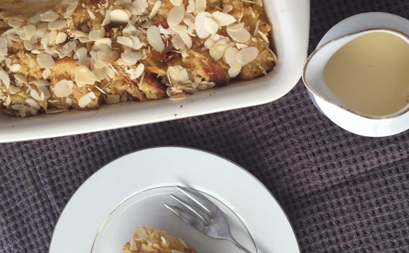 Cinnamon Vanilla Bread Pudding with CrèmeAnglais