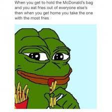 sad frog fries
