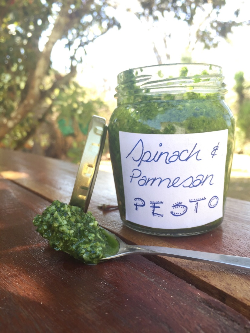 Simple Spinach and Parmesan Pesto