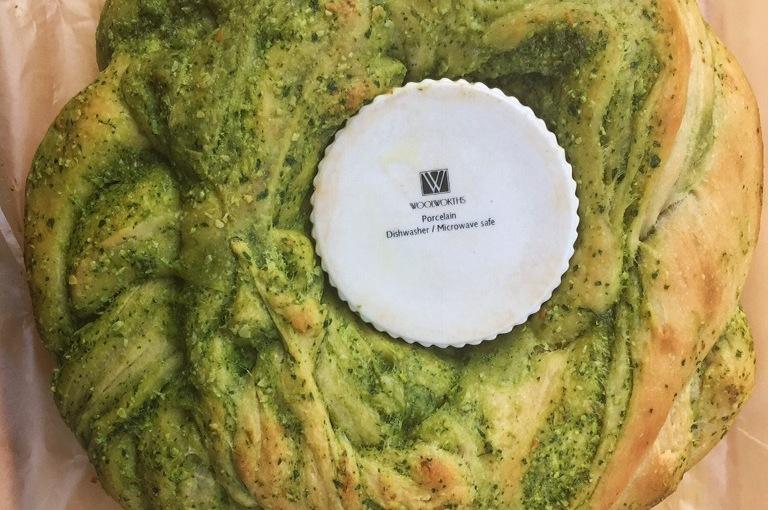 Spinach Pesto Braided BreadWreath