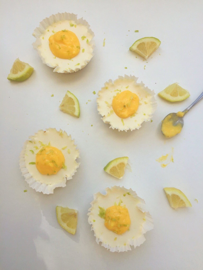 No Bake Mini Lemon Mini Cheesecakes