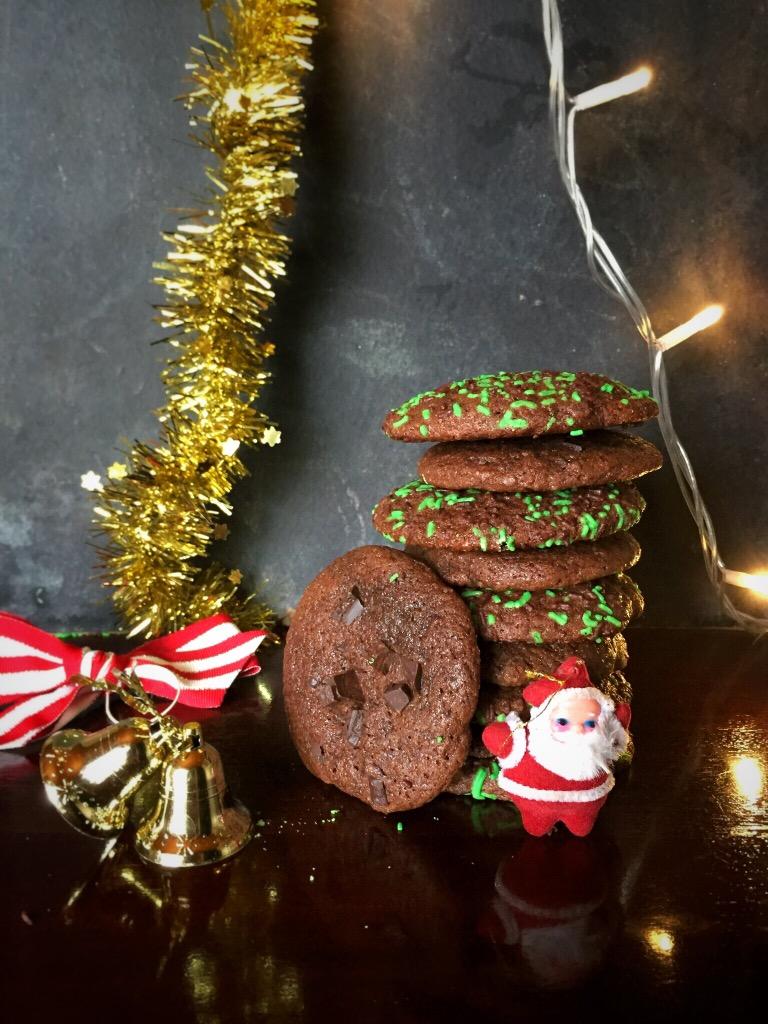 Super Fudgy Chocolate Brownie ChristmasCookies