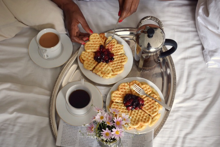 Berry Waffles Breakfast In Bed