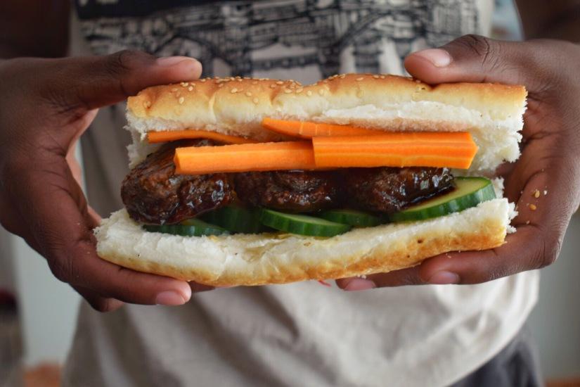 Bành Mí Style Vegan MeatballSubs