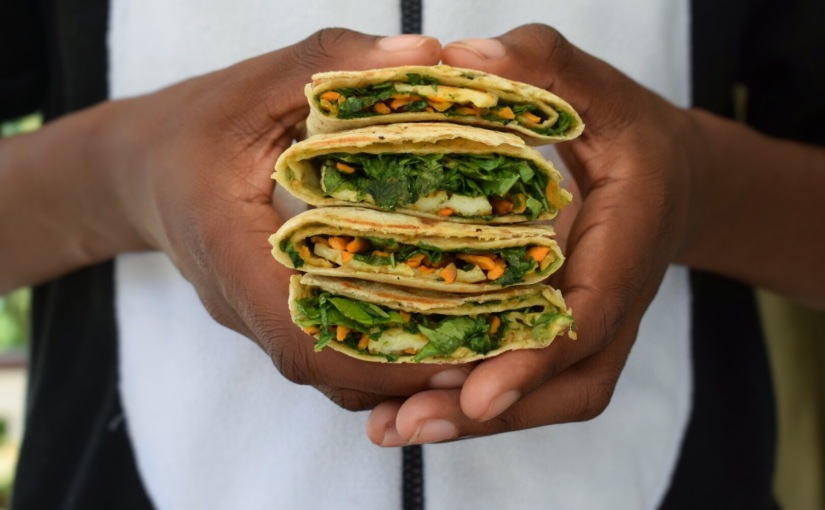 Spicy Marinated Halloumi and VeggieWraps