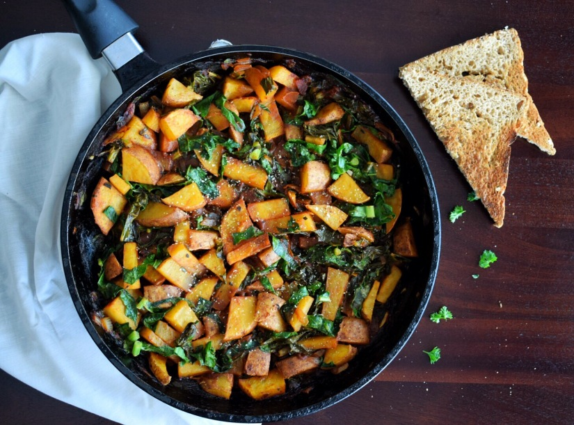 30 Minute Mexican Potato and Kale Anytime Hash