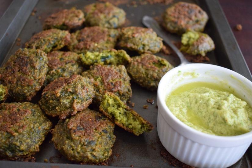 Baked Spinach QuinoaFalafels