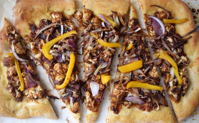 Roasted Cauliflower BBQ VeganPizza
