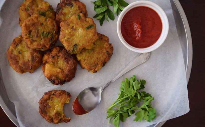 Crispy Curry Vegan Potato Pancakes